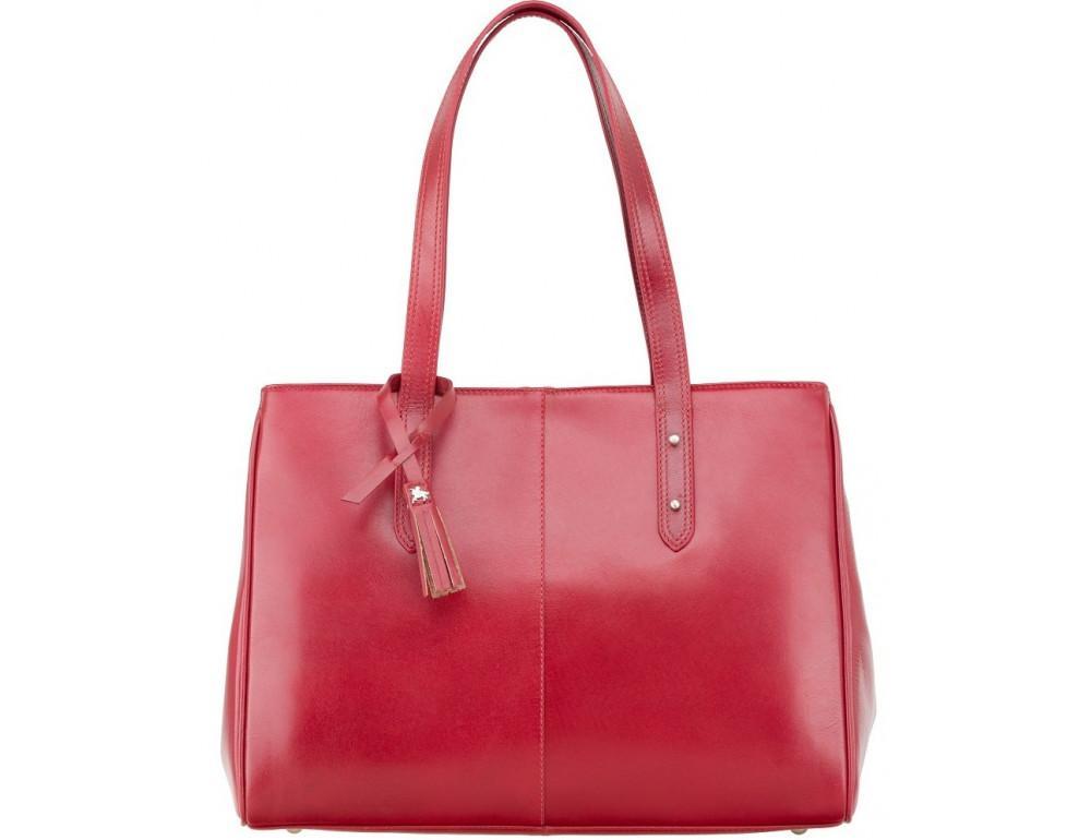 Красная кожаная сумка для женщин Visconti ITL80 RED - Фото № 1