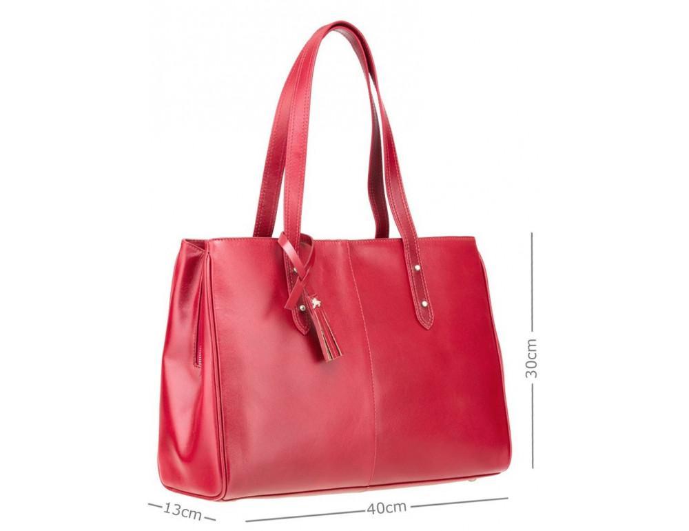 Красная кожаная сумка для женщин Visconti ITL80 RED - Фото № 2