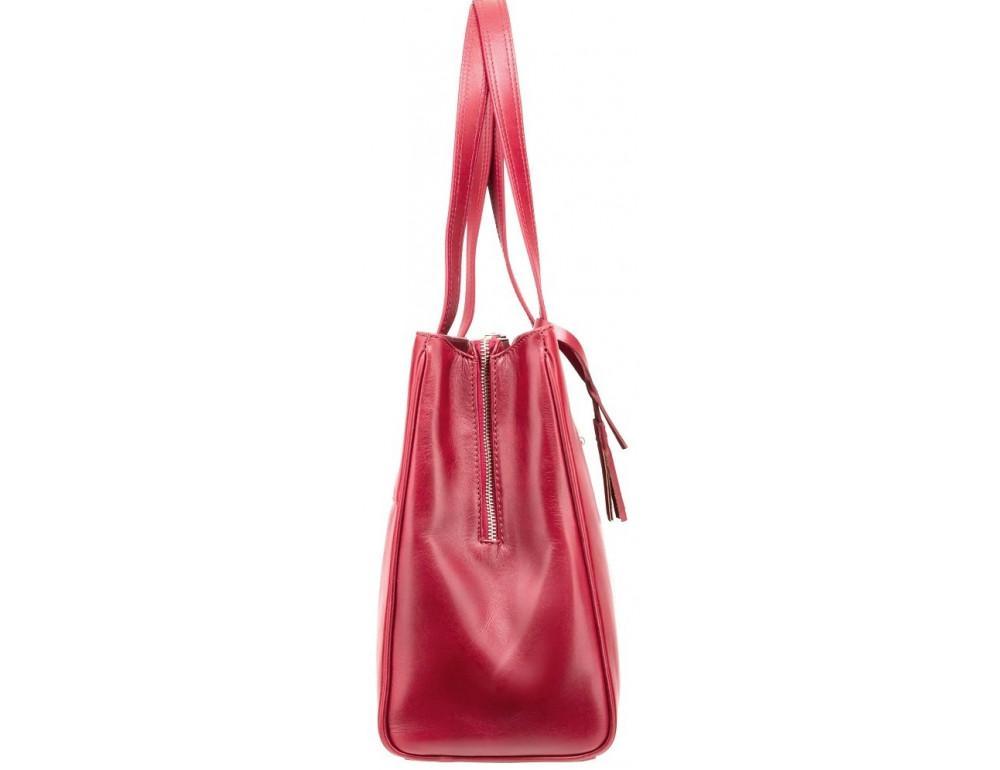 Красная кожаная сумка для женщин Visconti ITL80 RED - Фото № 3