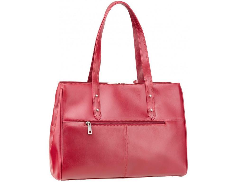 Красная кожаная сумка для женщин Visconti ITL80 RED - Фото № 4