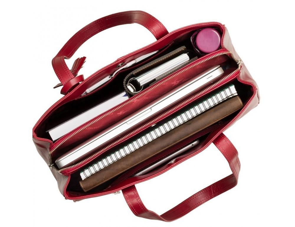 Красная кожаная сумка для женщин Visconti ITL80 RED - Фото № 5