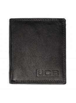 Маленький мужской кожаный кошелёк JCB NC37MN Black