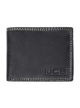 Мужской кожаный портмоне JCB NC44EH Oil Black (Черный)