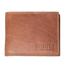 Рыжий мужской кошелёк из телячьей кожи JCB NC44MN Tan