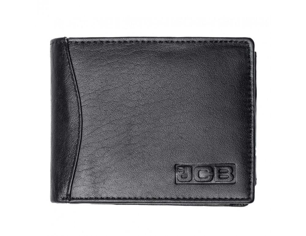 Мужской кожаный кошелёк без засчёлки JCB JCBNC53 BLK - Фото № 1