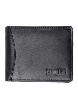 Мужской кожаный кошелёк без засчёлки JCB JCBNC53 BLK