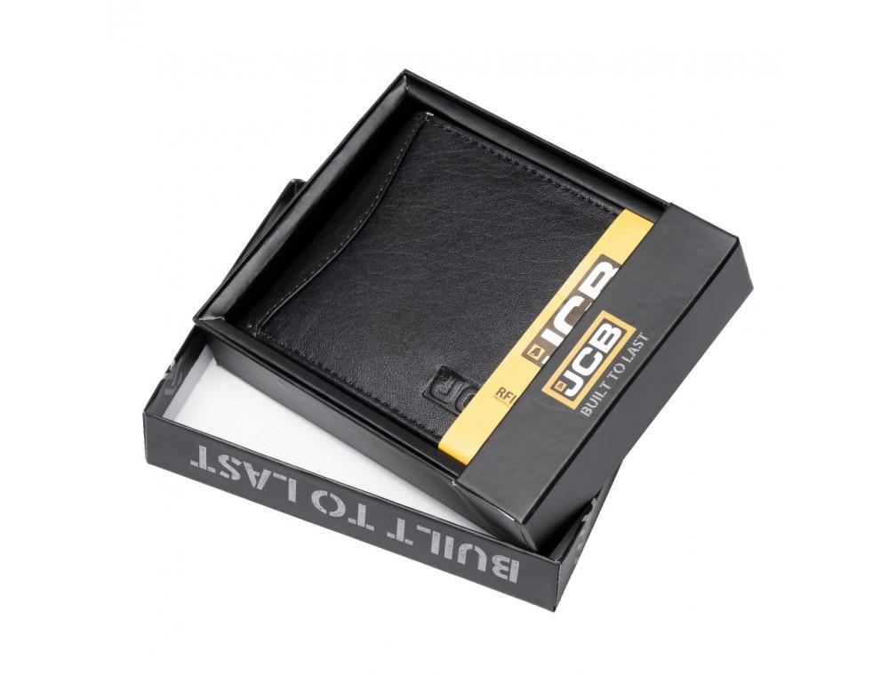 Мужской кожаный кошелёк без засчёлки JCB JCBNC53 BLK - Фото № 2