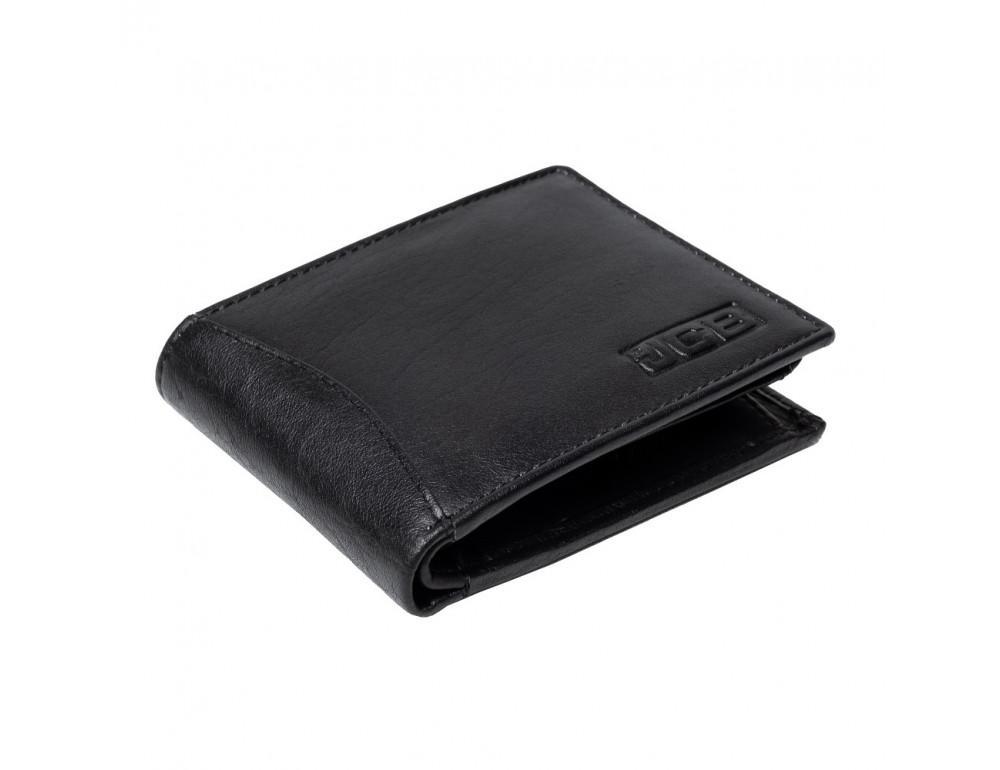 Мужской кожаный кошелёк без засчёлки JCB JCBNC53 BLK - Фото № 5
