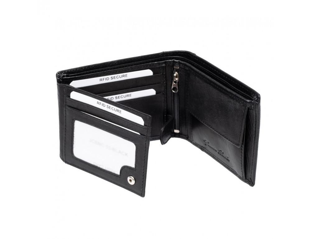 Мужской кожаный кошелёк без засчёлки JCB JCBNC53 BLK - Фото № 7