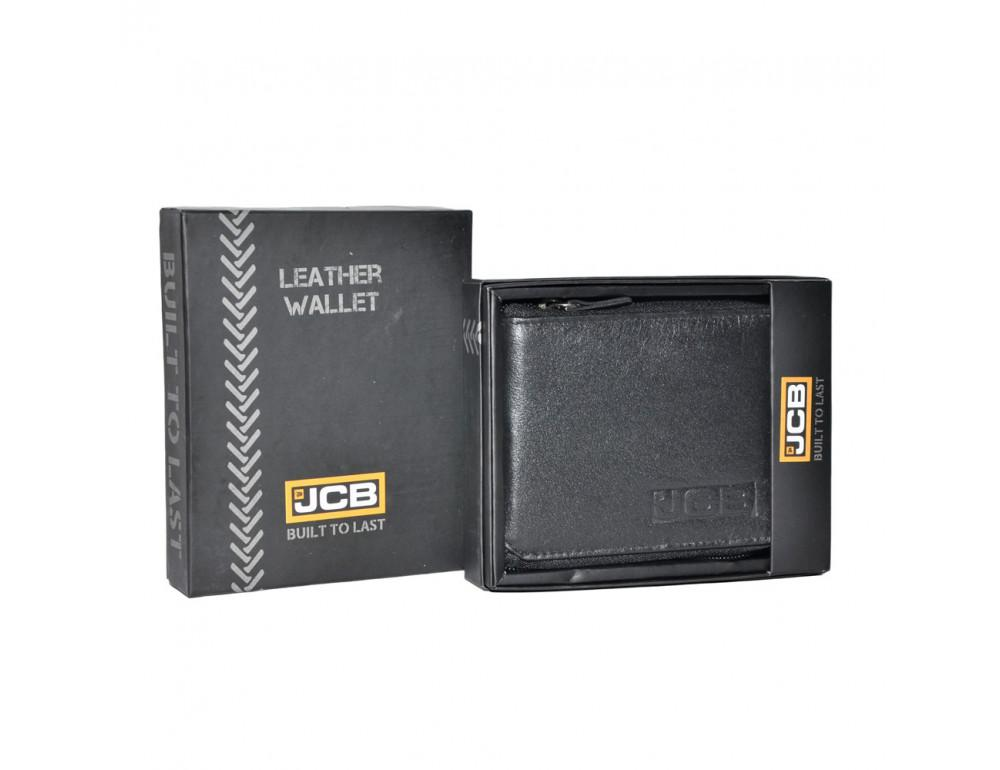 Маленький кожаный портмоне на молнии JCB JCBNC38MN BLK - Фото № 1