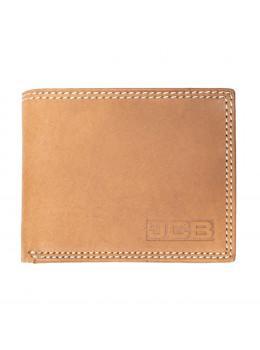 Светло-коричневый винтажный кожаный портмоне JCB NC44EH Oil Tan