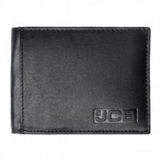 Чёрный мужской кожаный портмоне JCB NC52 Black (Черный)