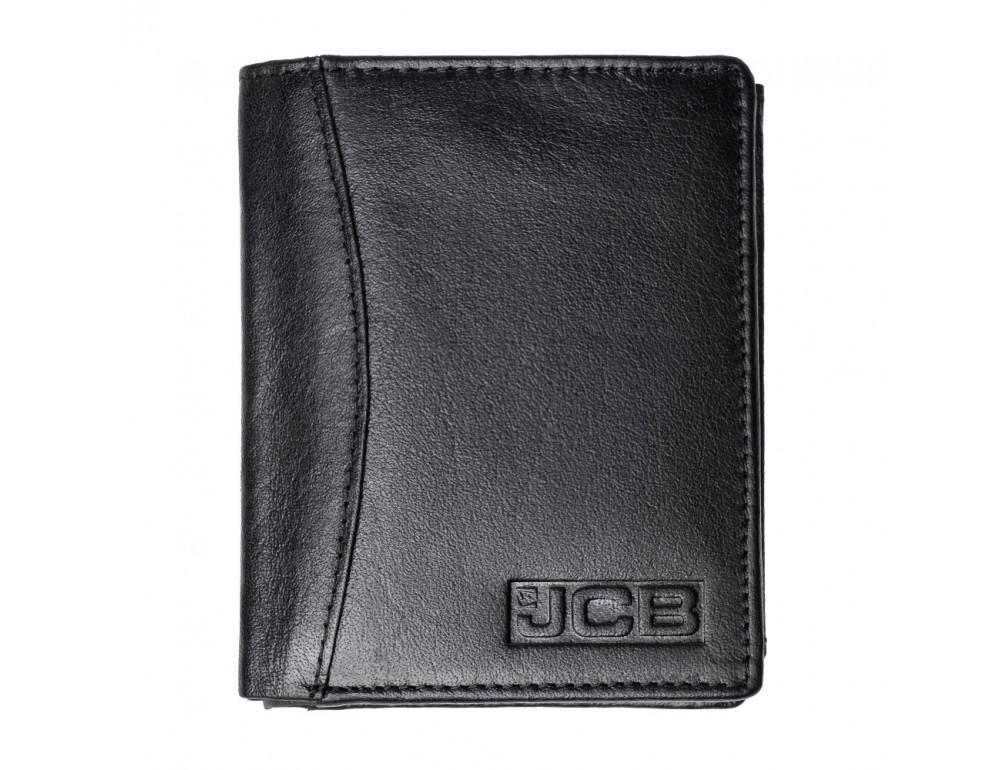 Мужской вертикальный кошелёк из кожи JCB JCBNC54 BLK - Фото № 1