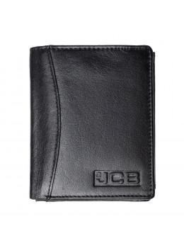 Мужской вертикальный кошелёк из кожи JCB JCBNC54 BLK