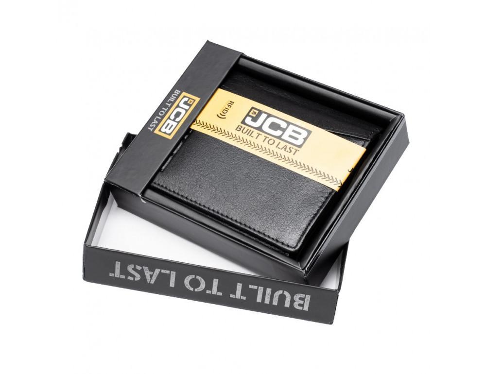 Мужской вертикальный кошелёк из кожи JCB JCBNC54 BLK - Фото № 2