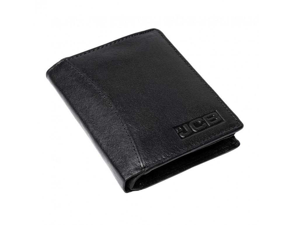 Мужской вертикальный кошелёк из кожи JCB JCBNC54 BLK - Фото № 4
