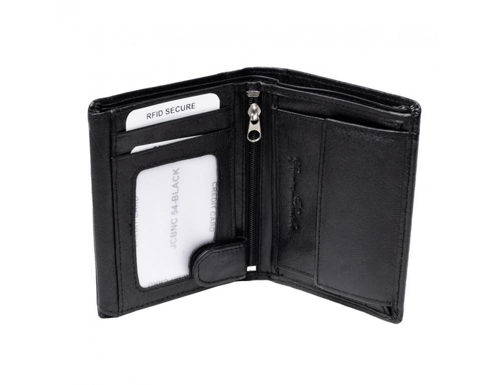 Мужской вертикальный кошелёк из кожи JCB JCBNC54 BLK - Фото № 5