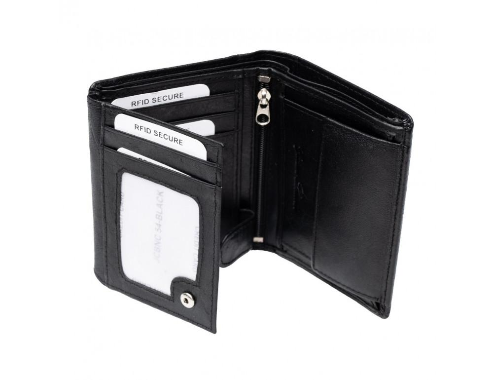 Мужской вертикальный кошелёк из кожи JCB JCBNC54 BLK - Фото № 6