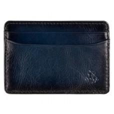 Синий кожаный картхолдер Visconti AT54 BLUE Evan (Burnish Blue)