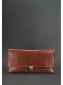 Коньячный кожаный кошелёк под документы Blanknote BN-TK-2-k