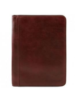 Коричневая кожаная папка для документов А-4 OTTAVIO Tuscany Leather TL141294 Brown
