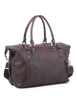 Коричневая винтажная дорожная сумка Manufatto №5 крейзи хорс коричневая