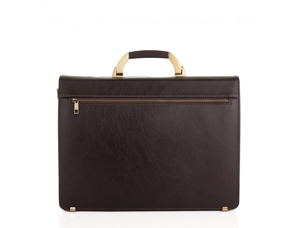 Коричневый мужской кожаный портфель Newery N1587GC - Фото № 2