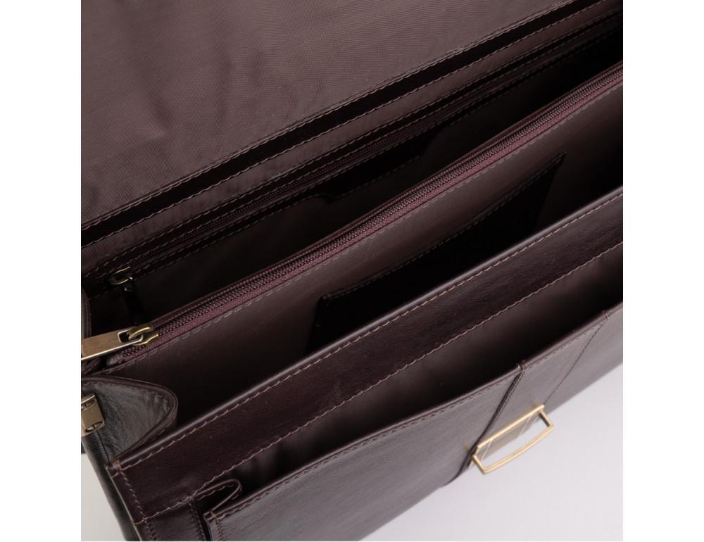 Коричневый мужской кожаный портфель Newery N1587GC - Фото № 8