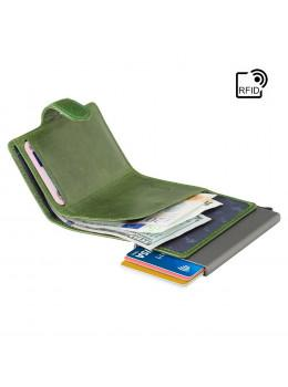 Зелений шкіряний гаманець Картхолдер Visconti VSL59 GREEN Fireblade (Green)