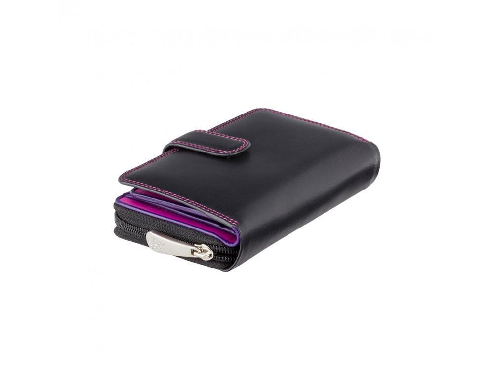 Стильный женский кошелёк Visconti R13 BLK/BERRY Carmelo c RFID (Black Berry) - Фото № 1