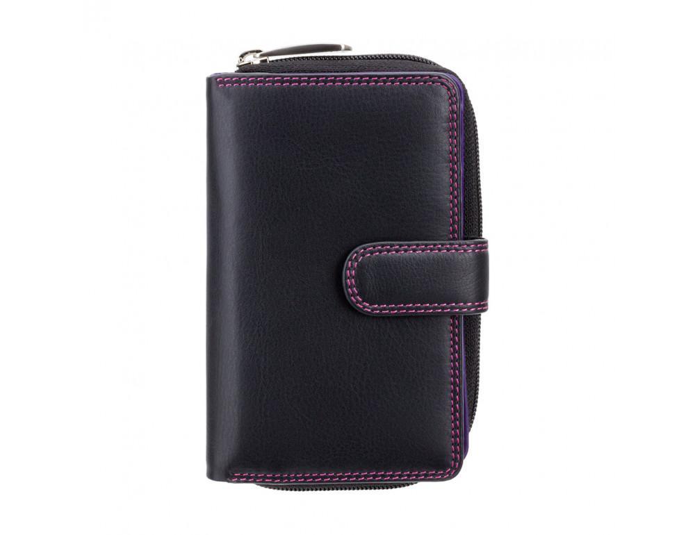Стильный женский кошелёк Visconti R13 BLK/BERRY Carmelo c RFID (Black Berry) - Фото № 7