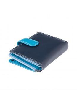 Голубой кошелек женский Visconti RB40 BLUE M Bali c RFID (Blue Multi)