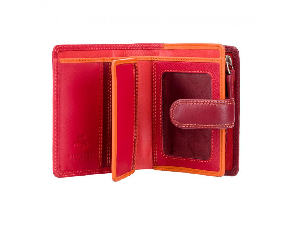 Красный кошелек женский Visconti RB40 RED M Bali c RFID (Red Multi) - Фото № 2