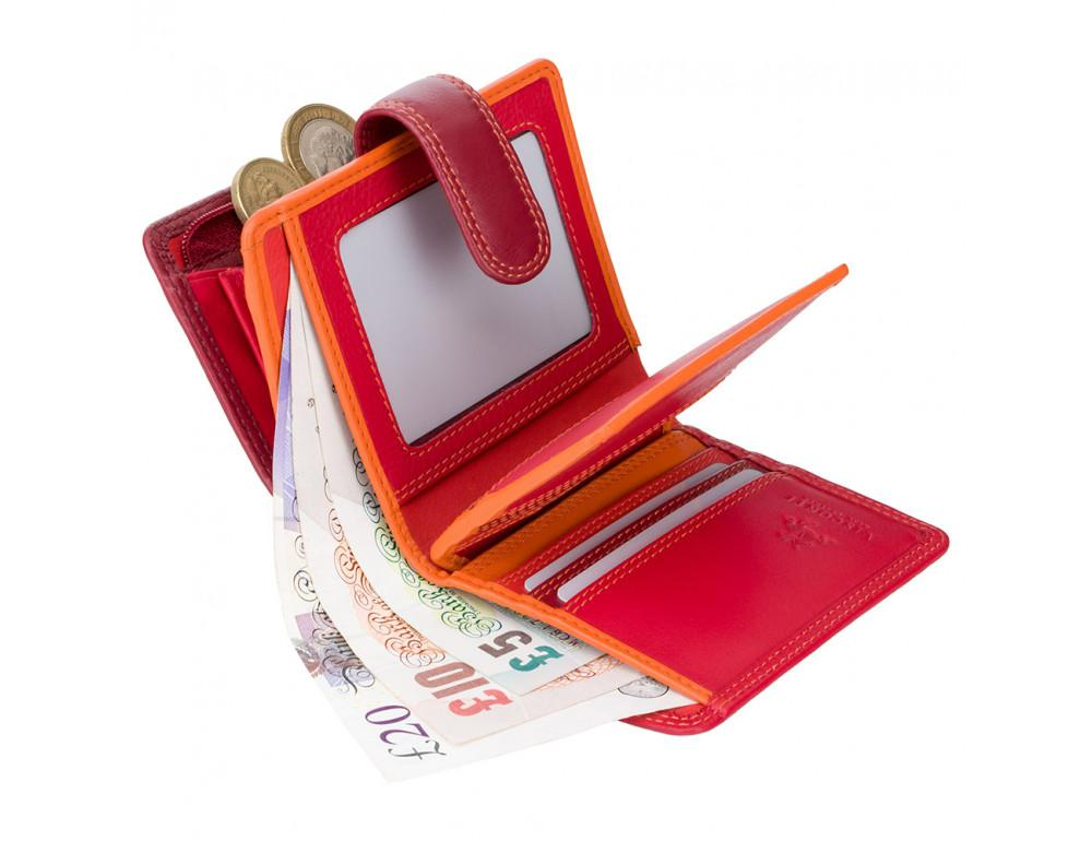 Красный кошелек женский Visconti RB40 RED M Bali c RFID (Red Multi) - Фото № 3