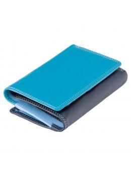 Кошелек женский голубой Visconti RB43 BLUE M Bora c RFID (Blue Multi)
