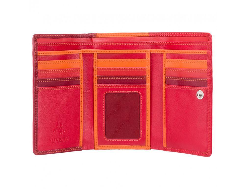 Кошелек женский Visconti RB43 RED M Bora c RFID (Red Multi) - Фото № 3