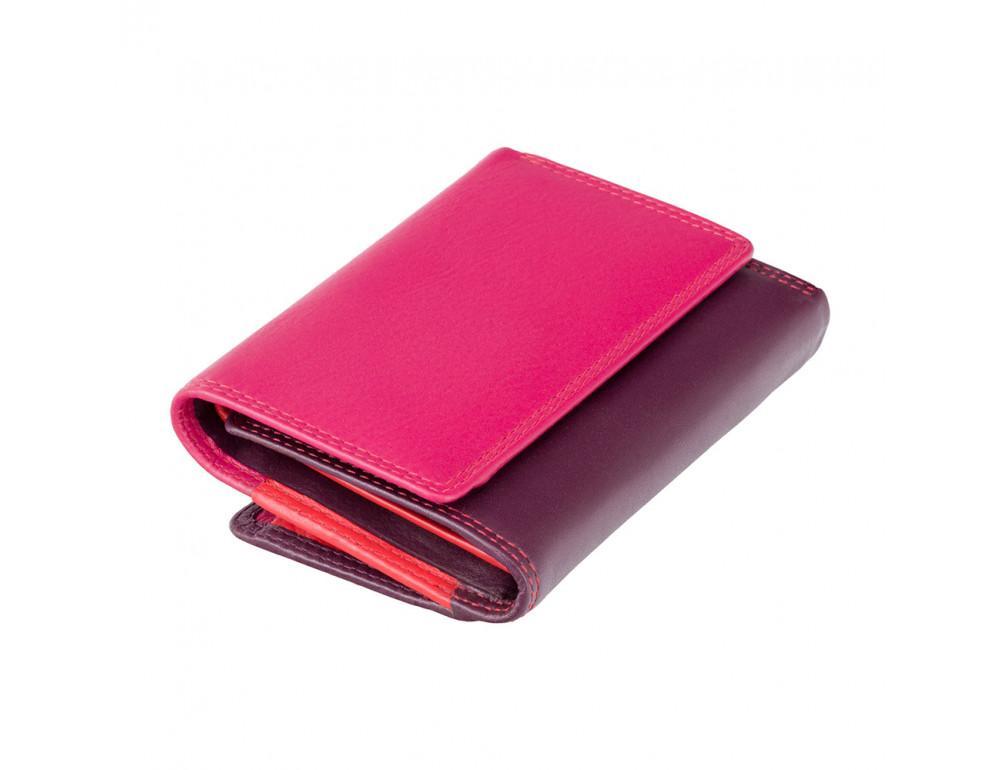 Фиолетовый женский кошелёк в три сложения Visconti RB39 PLUM M Biola c RFID (Plum Multi) - Фото № 1