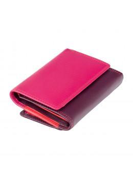 Фиолетовый женский кошелёк в три сложения Visconti RB39 PLUM M Biola c RFID (Plum Multi)