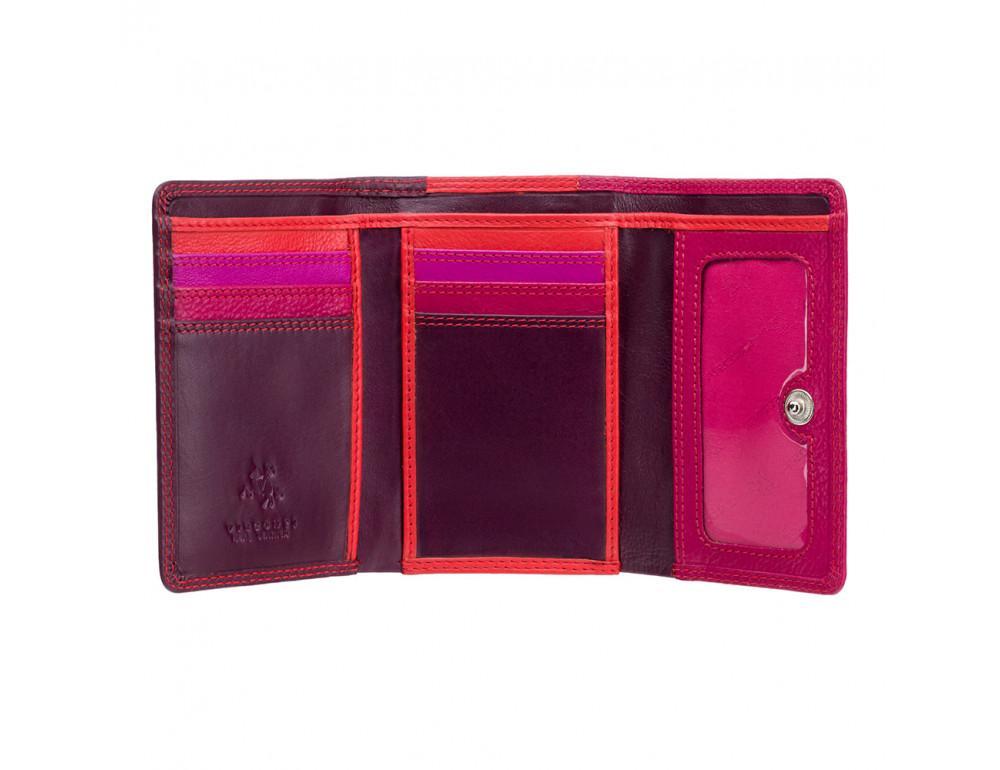 Фиолетовый женский кошелёк в три сложения Visconti RB39 PLUM M Biola c RFID (Plum Multi) - Фото № 3