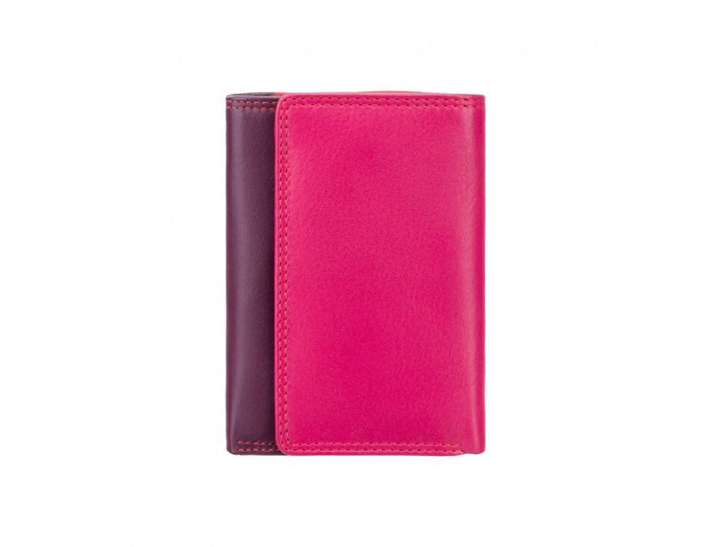 Фиолетовый женский кошелёк в три сложения Visconti RB39 PLUM M Biola c RFID (Plum Multi) - Фото № 4