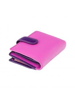 Розовый кошелек женский Visconti RB40 BERRY M Bali c RFID (Berry Multi)