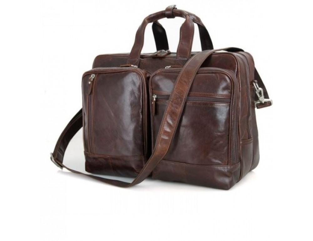 Мужская кожаная сумка TIDING BAG 7343C - Фото № 2