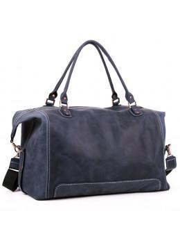 Кожаная дорожная сумка Manufatto №4 крейзи хорс синяя