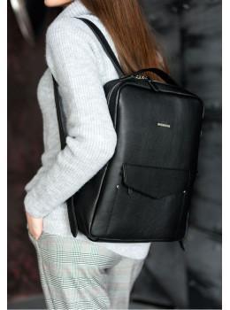 Шкіряний жіночий рюкзак чорного кольору Blanknote НУАР BN-BAG-19-NOIR