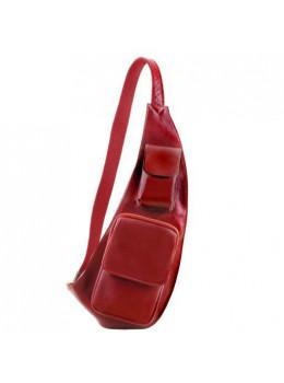 Красная кожаная сумка слинг Tuscany Leather TL141352 Red