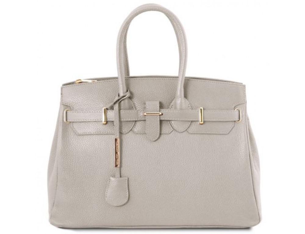 Кожаная женская сумка Tuscany Leather TL141529 LIGHT GREY - Фото № 1