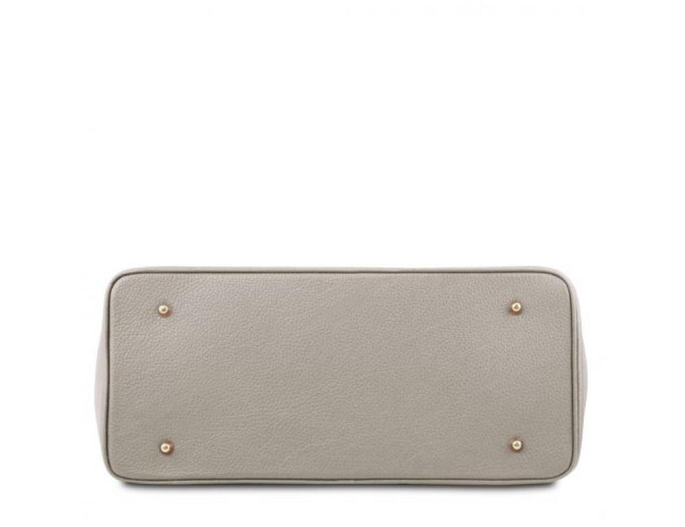 Кожаная женская сумка Tuscany Leather TL141529 LIGHT GREY - Фото № 2