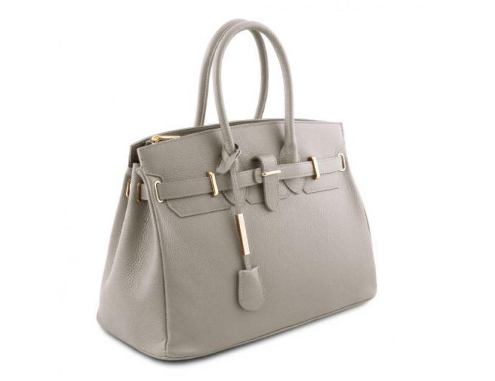 Кожаная женская сумка Tuscany Leather TL141529 LIGHT GREY - Фото № 3