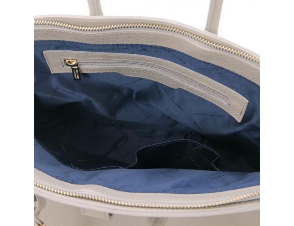 Кожаная женская сумка Tuscany Leather TL141529 LIGHT GREY - Фото № 5