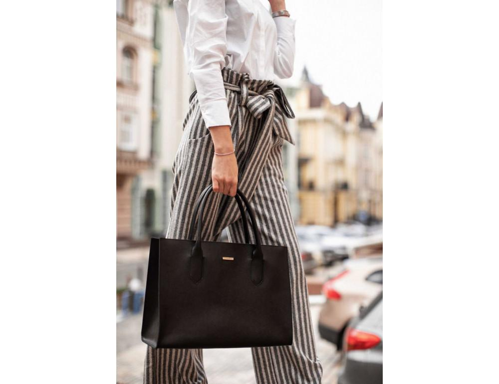 Женская сумка Шоппер BLACKWOOD BN-BAG-27-blackwood черная - Фото № 6